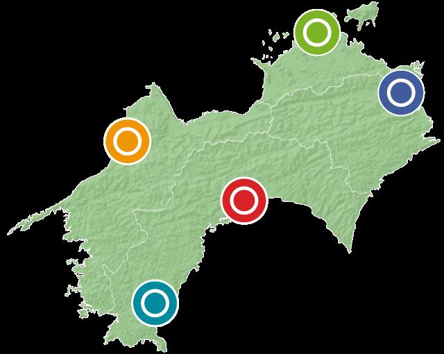 四国内に9拠点、地域密着型のあんしんネットワーク